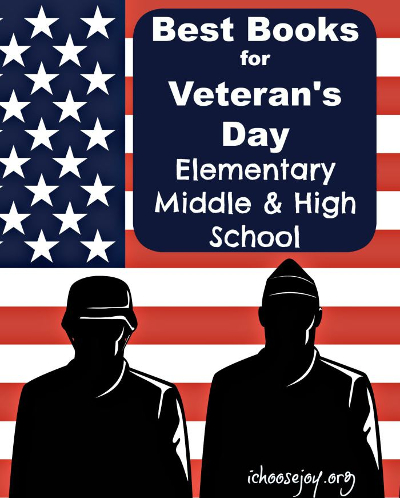 Best Books for Veterans Day Elementary Middle and High School