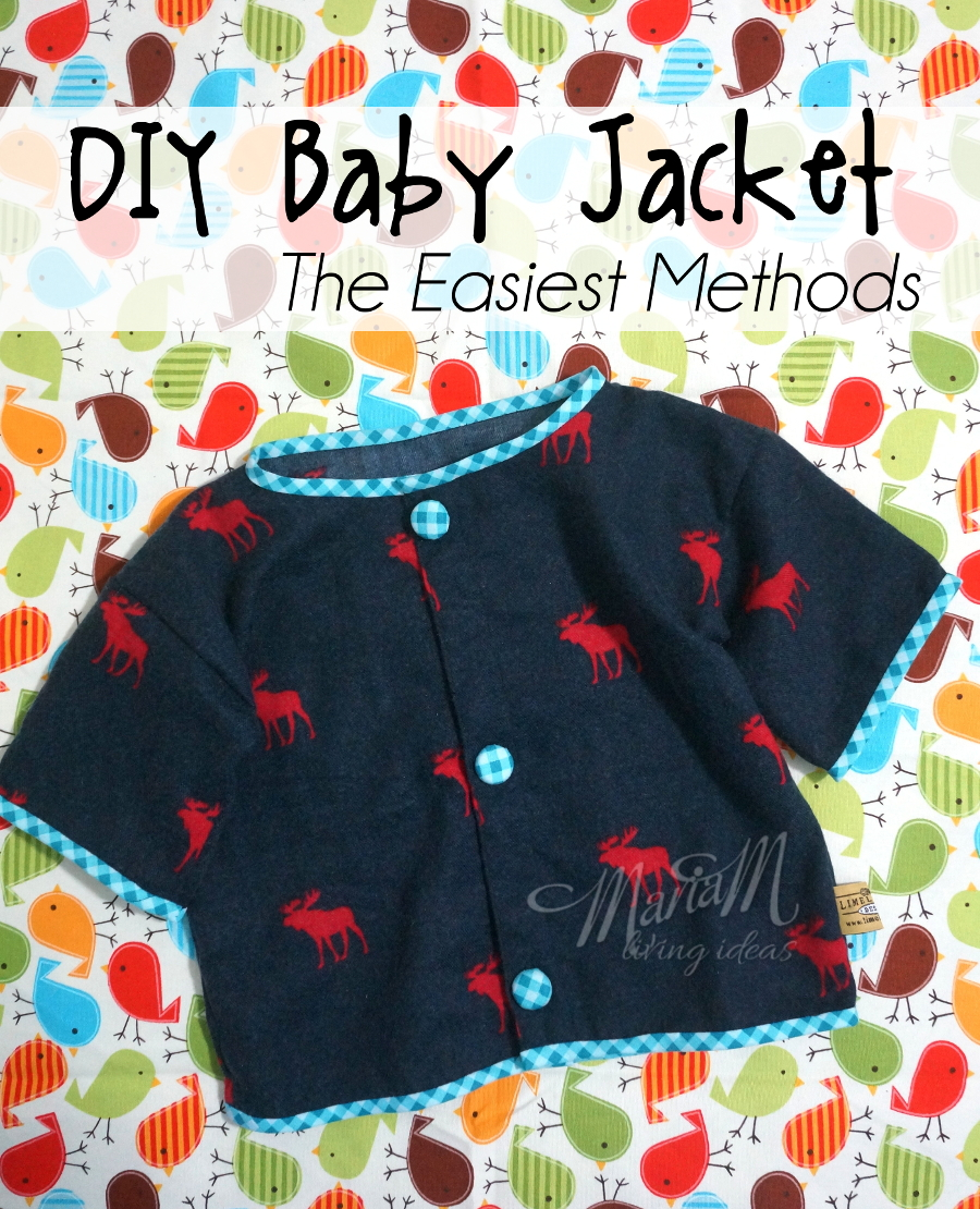 DIY baby jacket, the easiest method you can sew by yourself