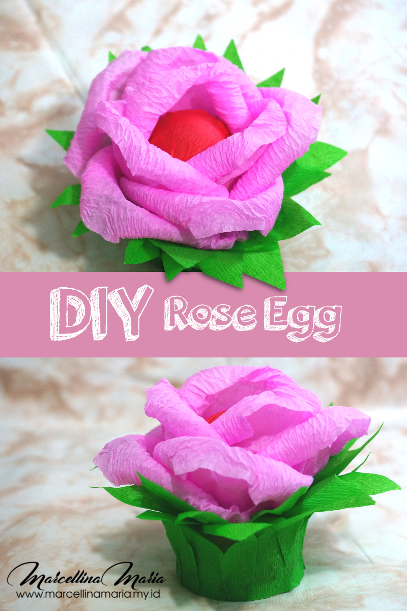 DIY rose egg, step by step how to make rose egg. Easy to make and will become a beautiful centerpiece.