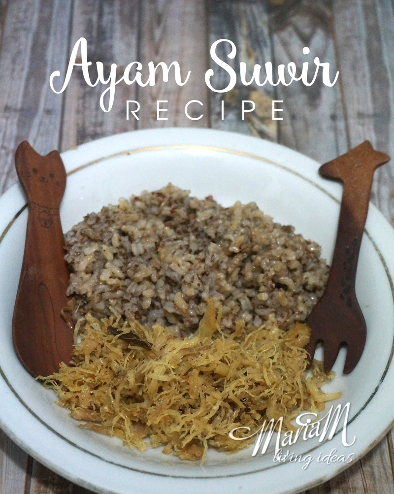 Ayam suwir (shredded chicken) is one of my son's favorite foods. We used to take it as a packed meal when traveling because it tastes good, savory, spicy and easy to serve and eat. Ayam suwir is Indonesian food with Indonesian spices. Here is the recipe