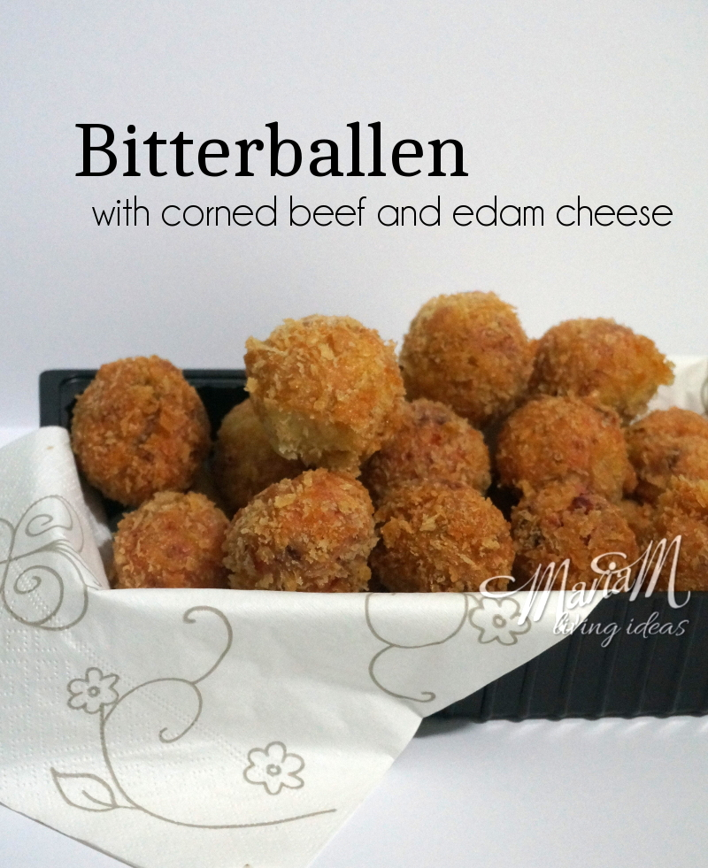Bitterballen with corned beef and edam cheese recipe