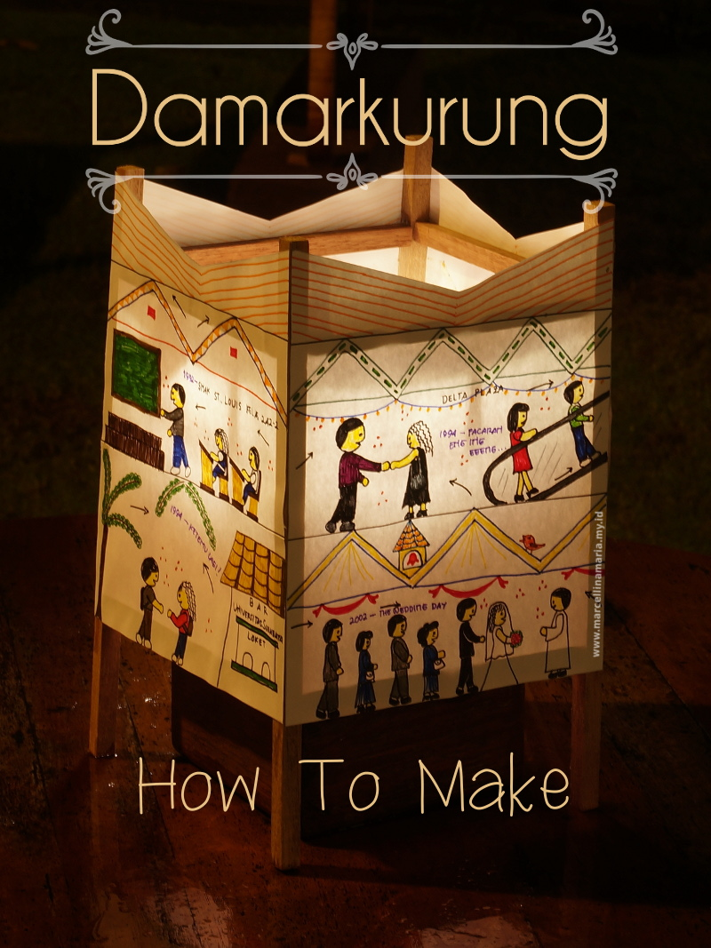 DIY damarkurung. Damarkurung is Indonesian lantern that endangered