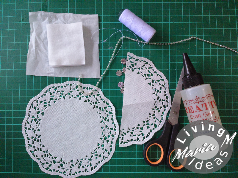 diy tutorial doilies angel 1