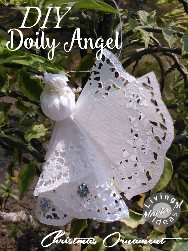 diy tutorial doilies angel 18