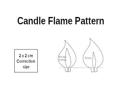 Candle flame Pattern to create cardboard candle