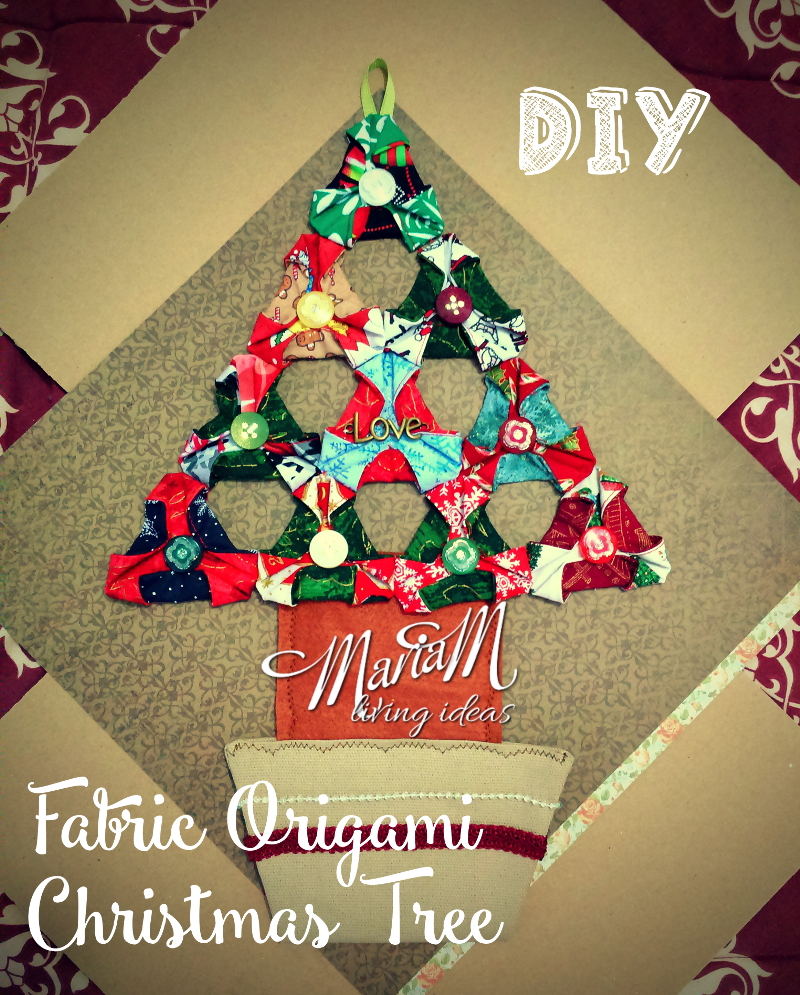 handmade gift ideas for teenager: fabric origami christmas tree