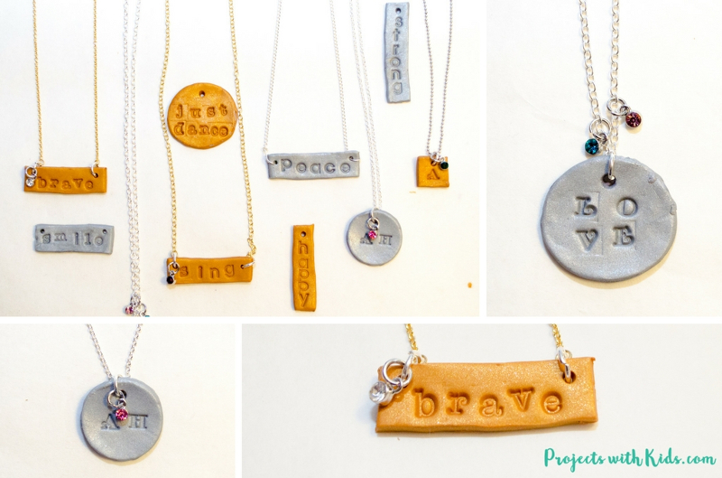 handmade gift ideas for teenager: engraved necklace
