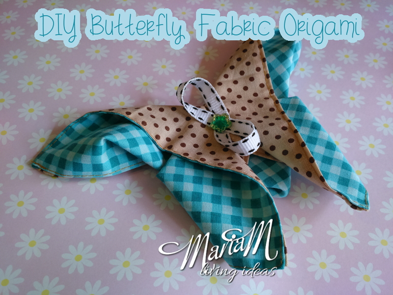 handmade gift ideas for teenager: applique origami butterfly