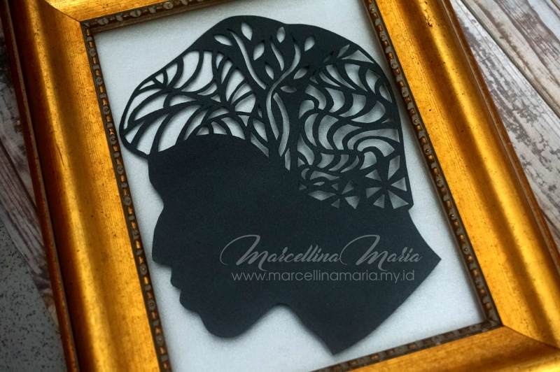 handmade gift ideas for teenager, silhouette paper cutting