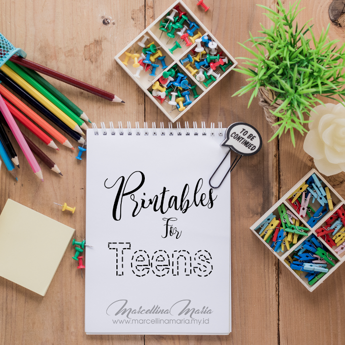 10 days printables for teens