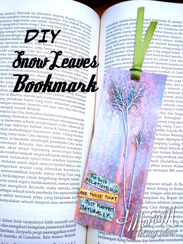 leaves craft bookmark 1