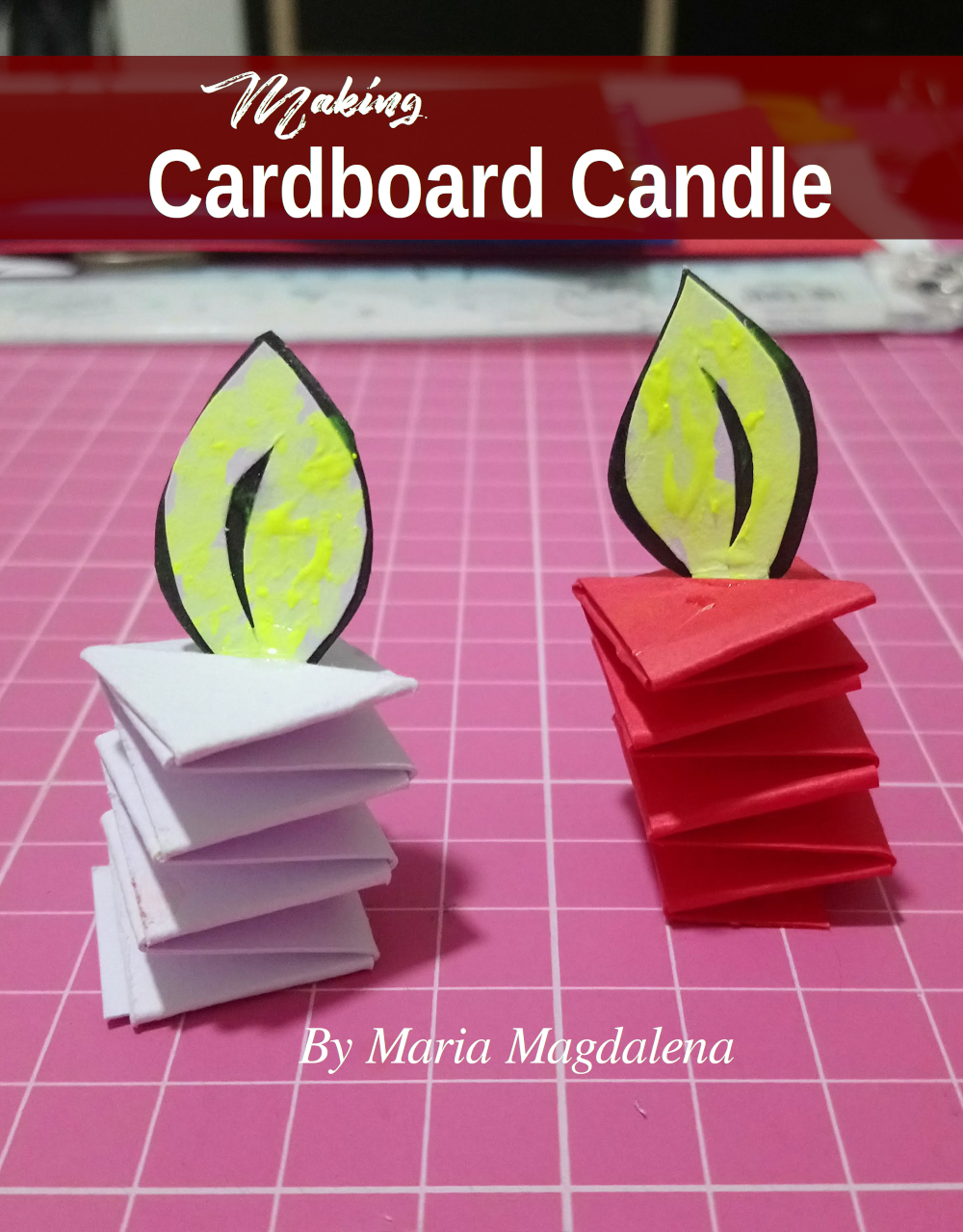 How to make cardboard candle for Christmas decoration