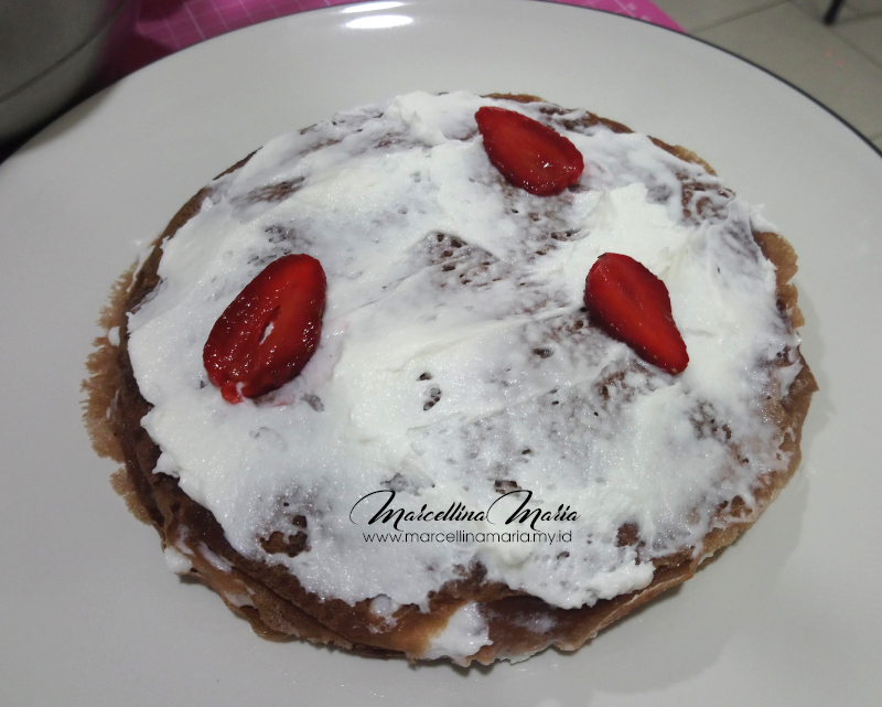 Chocolate - Strawberry Mille Crepes Recipe