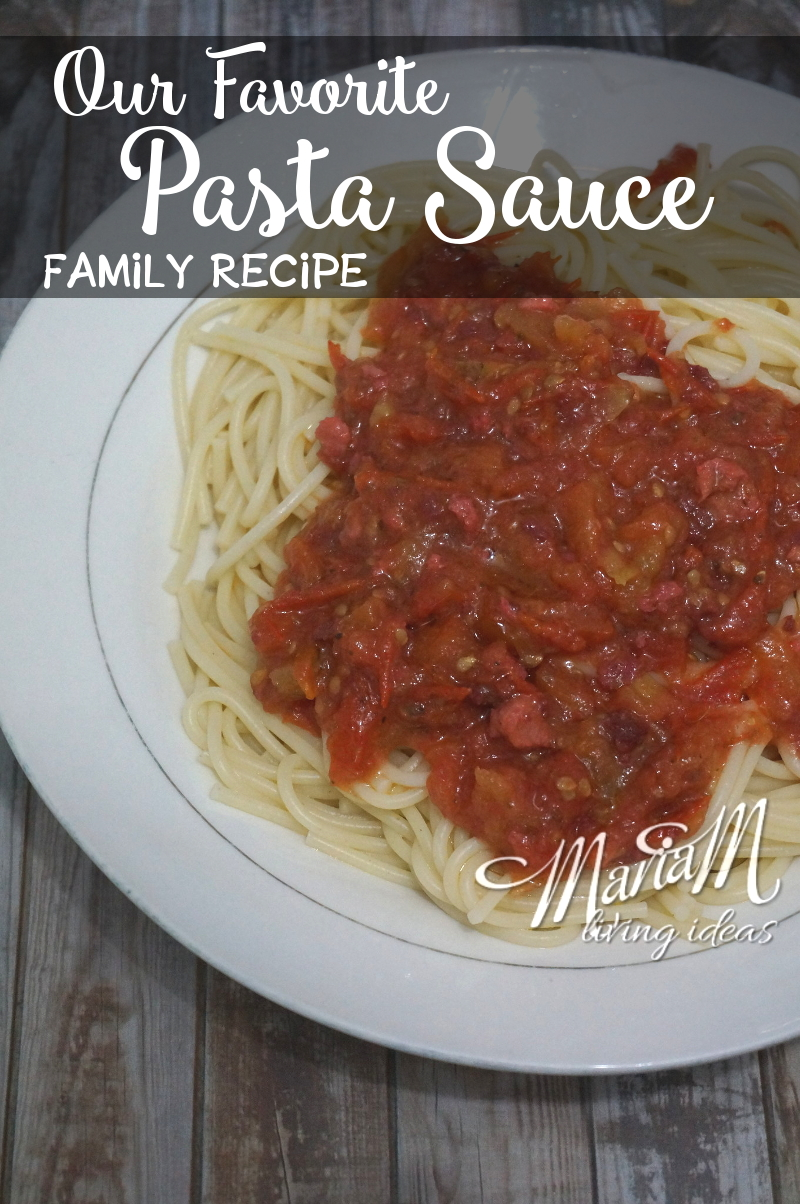 Our family's favorite homemade pasta sauce with coconut oil, healthy and easy to make.