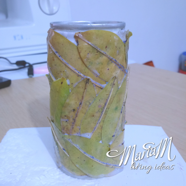 pencil holder leaves diy 4