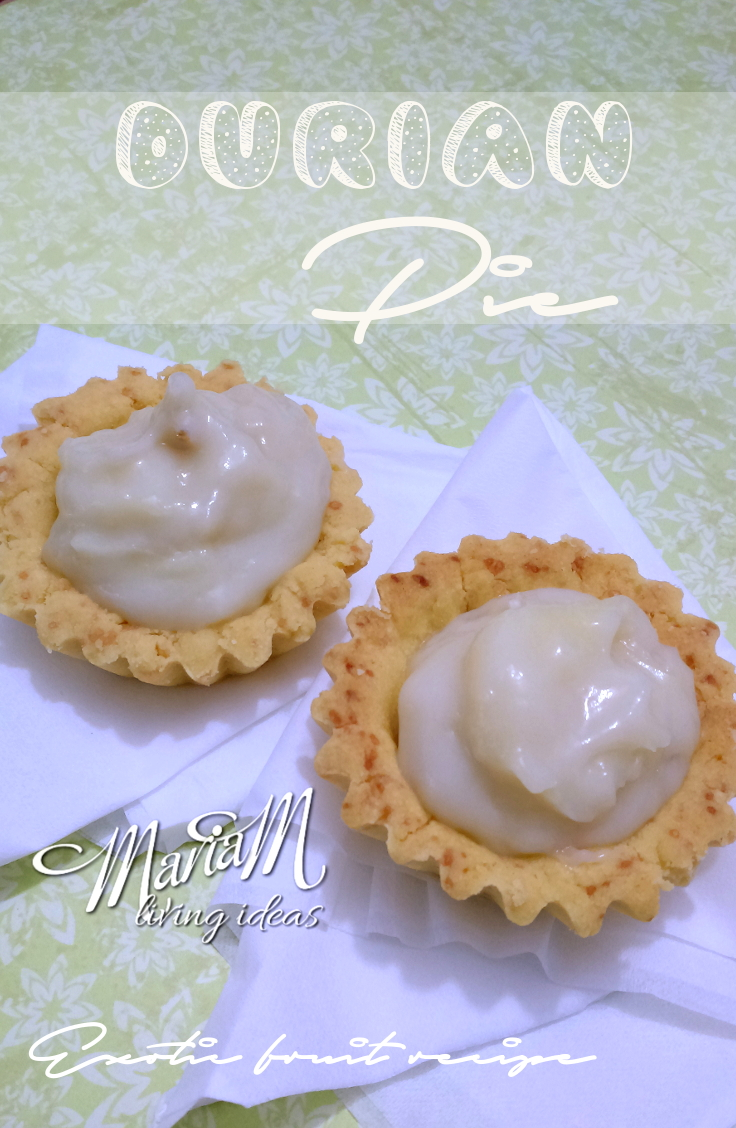 Pie durian, exotic fruit pie recipe
