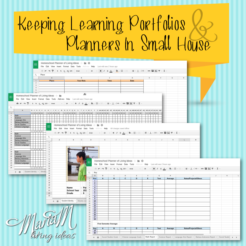 homeschool portfolio and planner